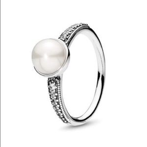 New Pandora Elegant Beauty Pearl Ring